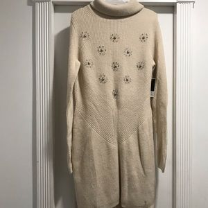 Juicy Couture Women's Knit Dress Size S Off White